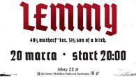 """20 marca na ekrany polskich kin trafi dokument """"Lemmy"""" poświęcony wokaliście grupy Motörhead."""